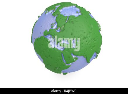 Earth, world map. polygonal globe europe. 3d illustration - Stock Photo