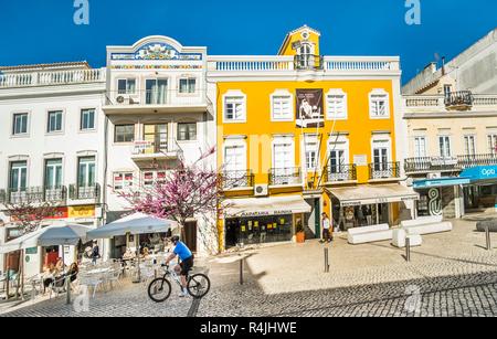 street scene in front of casa duarte pacheco - Stock Photo