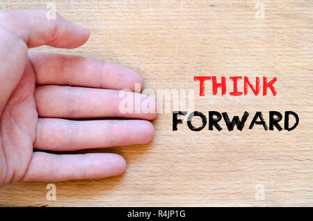 Think forward text concept - Stock Photo