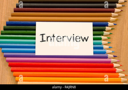Interview text concept - Stock Photo