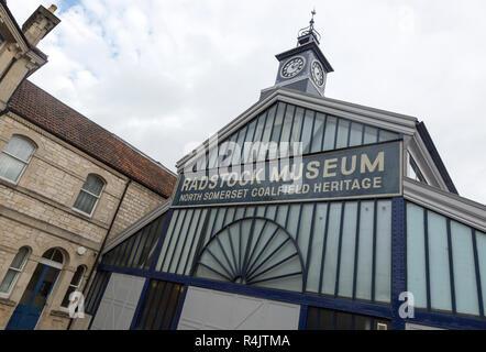 North Somerset coalfield heritage museum in old market building, Radstock, Somerset, England, UK - Stock Photo