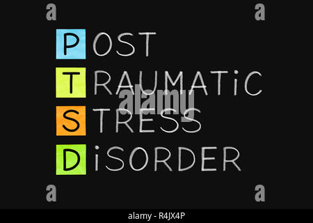 Post Traumatic Stress Disorder PTSD - Stock Photo