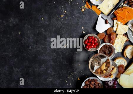 vegetarian and gluten free antipasti board. - Stock Photo