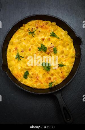 Pasta frittata - Stock Photo