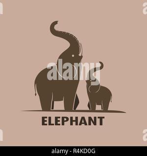Elephant design on a white background