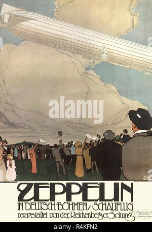 Zeppelin Test Flight, Honich, Heinrich. - Stock Photo