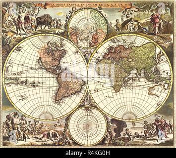 Old World Map 1688 Stock Photo: 184215157 - Alamy