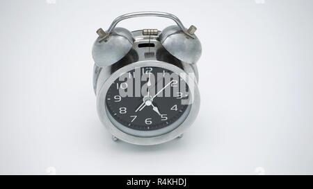 Chrome vintage alarm clock - Stock Photo