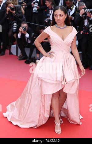 CANNES, FRANCE – MAY 09, 2018: Inanna Sarkis walks the red carpet ahead of the 'Yomeddine' screening at the 71st Festival de Cannes - Stock Photo