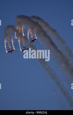 Global Stars aerobatic team, Bahrain Air Show - Stock Photo