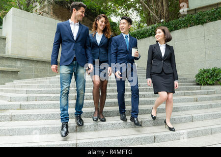Group of business people from different country - Stock Photo