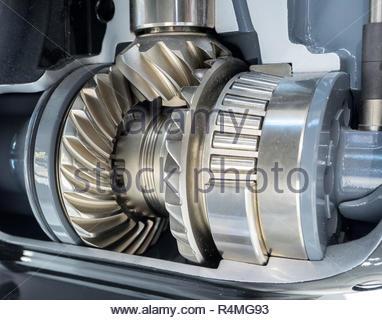 Closeup of engine gear - Stock Photo
