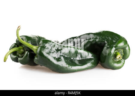 Whole Poblano Peppers - Stock Photo