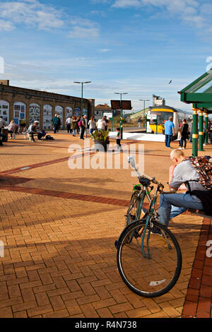 Lowestoft Railway Station, Suffolk, UK. Ipswich train in the platform formed of class 170 dmu - Stock Photo