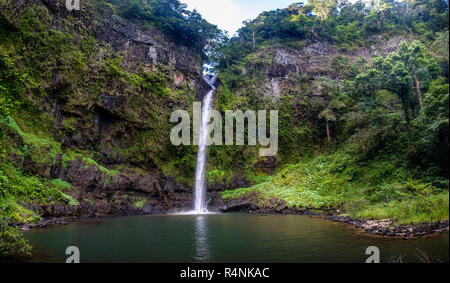Nandroya falls, waterfall in tropical north Queensland, Wooroonooran National Park, Australia - Stock Photo