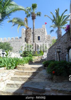 Marmaris Castle and museum, Marmaris, Mugla province, Turkey - Stock Photo