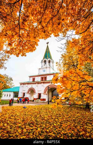 November 28, 2018 - Kolomenskoye, Kolomenskoye, China - Moscow, RUSSIA-Scenery of Kolomenskoye Park in Moscow, Russia. Kolomenskoye Park is a former royal estate situated several kilometers to the southeast of the city center of Moscow, Russia, on the ancient road leading to the town of Kolomna (hence the name). The 390 hectare scenic area overlooks the steep banks of the Moskva River. It became a part of Moscow in the 1960s  (Credit Image: © SIPA Asia via ZUMA Wire) - Stock Photo