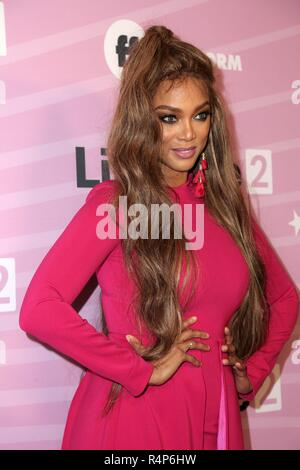 Los Angeles, CA, USA. 27th Nov, 2018. Tyra Banks at arrivals for LIFE SIZE 2 Premiere Screening, the Roosevelt Hotel, Los Angeles, CA November 27, 2018. Credit: Priscilla Grant/Everett Collection/Alamy Live News - Stock Photo