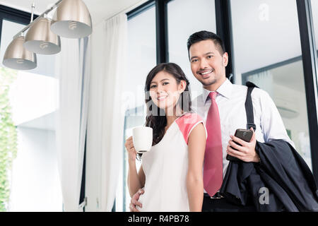 Couple Going To Office