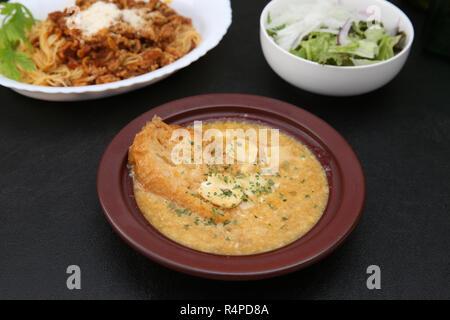 Sopa De Ajo (Spanish Soup) - Stock Photo