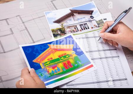 Architecture Calculating Heat Temperature - Stock Photo