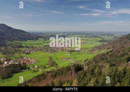 view on aschau,priental,chiemgau,upper bavaria,southern germany - Stock Photo