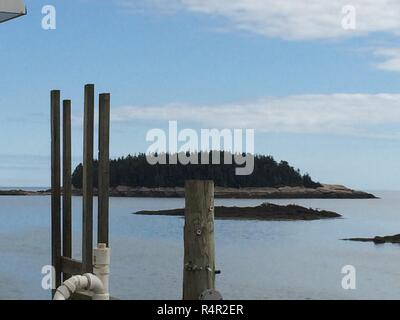 Outer Banks of Corea Harbour Maine - Stock Photo