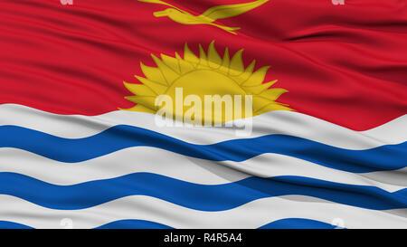 Closeup Kiribati Flag - Stock Photo