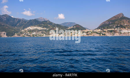 panoramic view of vietri sul mare town - Stock Photo
