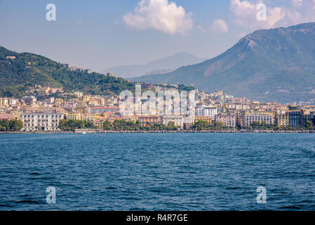 city of salerno seen from the sea - Stock Photo