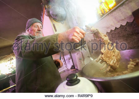 Cooking pork ribs - Stock Photo