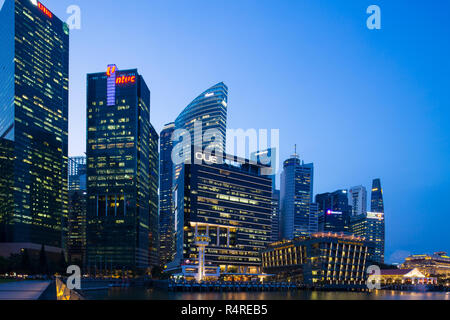 View of various buildings consist of commercial A grade offices, restaurants and 5 stars hotels - Stock Photo