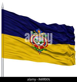 Tegucigalpa City Flag on Flagpole - Stock Photo