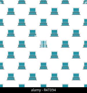 Construction of house pattern seamless vector repeat for any web design - Stock Photo