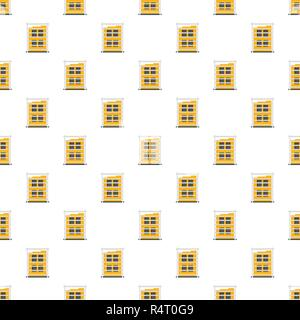 Building structure pattern seamless vector repeat for any web design - Stock Photo