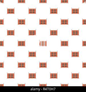 Structure of house pattern seamless vector repeat for any web design - Stock Photo