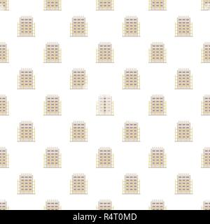 House project pattern seamless vector repeat for any web design - Stock Photo