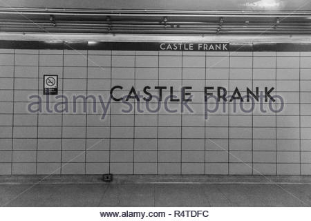 Toronto, Ontario, Canada-November 27, 2018: TTC Castle Frank subway station. The Toronto Transit Commision public transportation system is the largest - Stock Photo