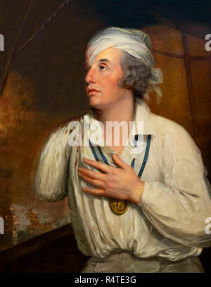 Rear-Admiral Sir Horatio Nelson, Wounded at the Nile, Guy Head, circa 1800, Battle of the Nile, - Stock Photo
