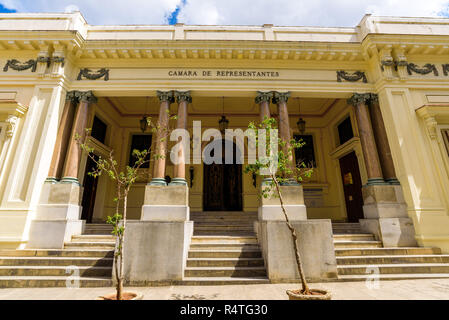 The Republican House of Representatives - Cámara de Representantes, which was housed here until it was moved to the Capitolio in 1929. Havana, Cuba