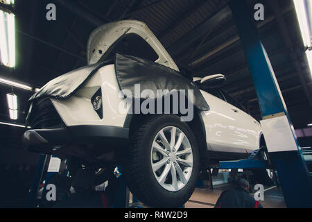 the bottom of the jeep car bottom off road vehicle car repair a