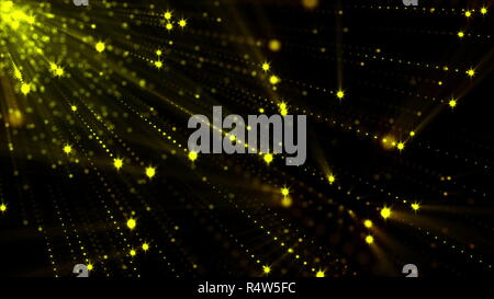 Abstract Falling Creative Rain Background. Gold color - Stock Photo