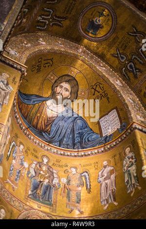 Monreale Cathedral, Sicilia, Italy, Europe. - Stock Photo