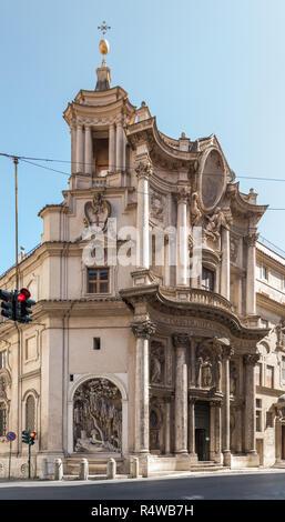 San Carlo alle Quattro Fontane, Rome, Italy - Stock Photo