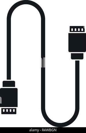 Charging vape cable icon. Simple illustration of charging vape cable vector icon for web design isolated on white background - Stock Photo