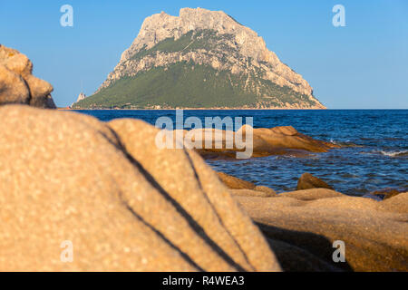 Tavolara Island, Loiri Porto San Paolo, Olbia Tempio province, Sardinia, Italy, Europe. - Stock Photo