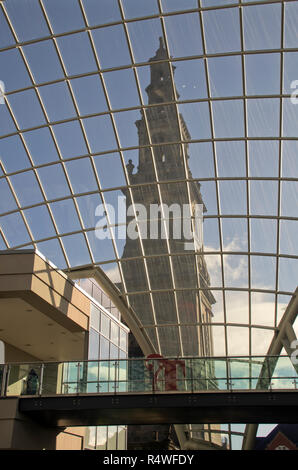 Holy Trinity Church viewed from within Trinity Leeds Shopping Centre - Stock Photo