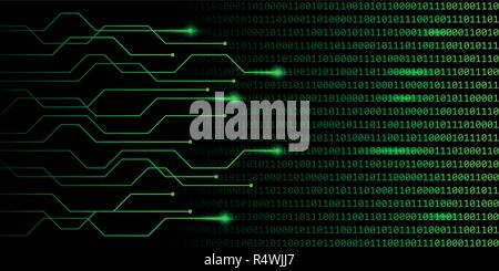 web digital technology green binary code communication vector illustration EPS10 - Stock Photo