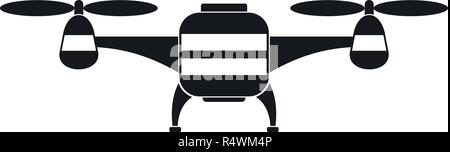 Toy drone icon. Simple illustration of toy drone vector icon for web design isolated on white background - Stock Photo