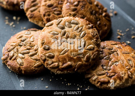 Oatmeal Cookies With Sunflower Seeds Kernel Seeds For Ketogenic Or
